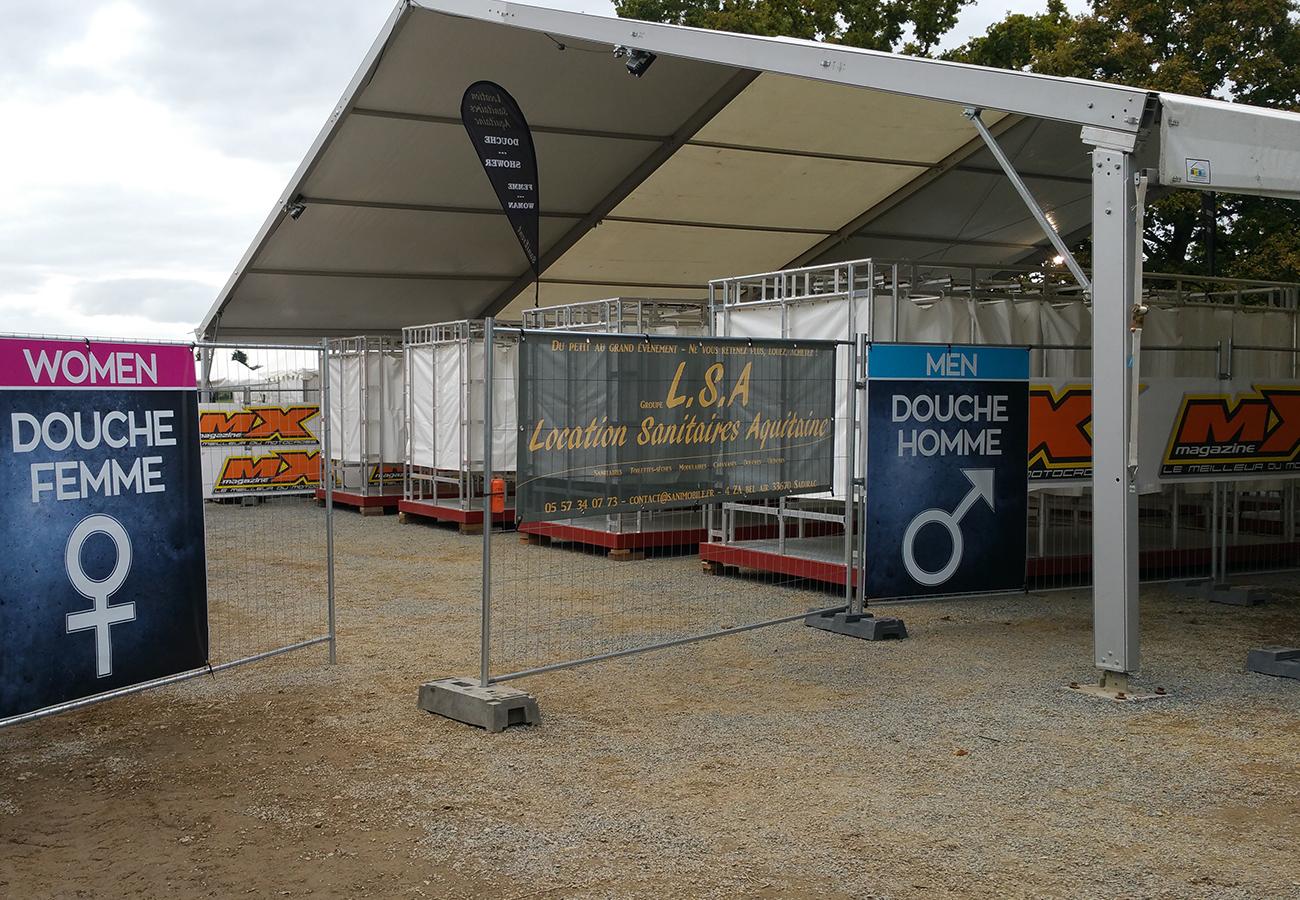 Location Douches Festival Aquitaine