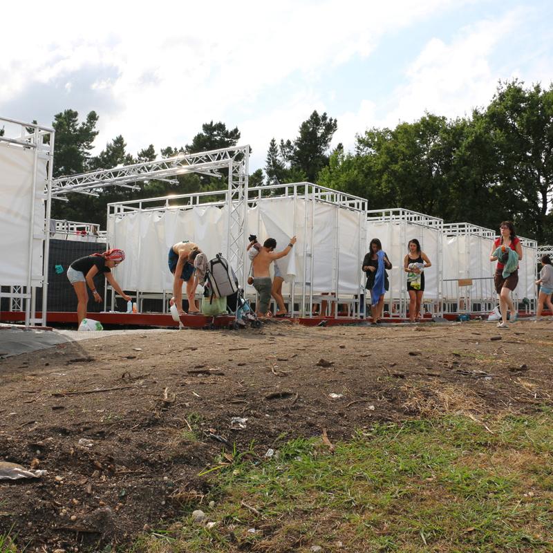 Location de modules de douches en Aquitaine